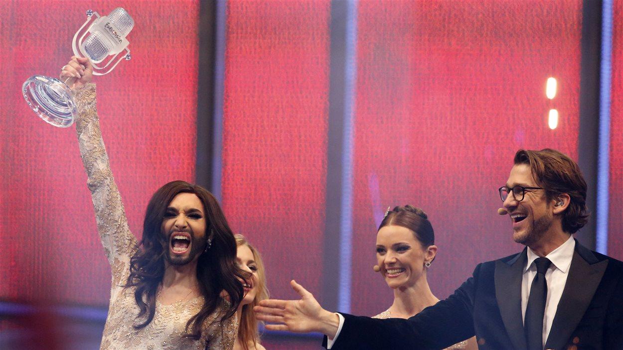L'Autriche a remporté dimanche à Copenhague le concours de l'Eurovision grâce au travesti à barbe Conchita Wurst.