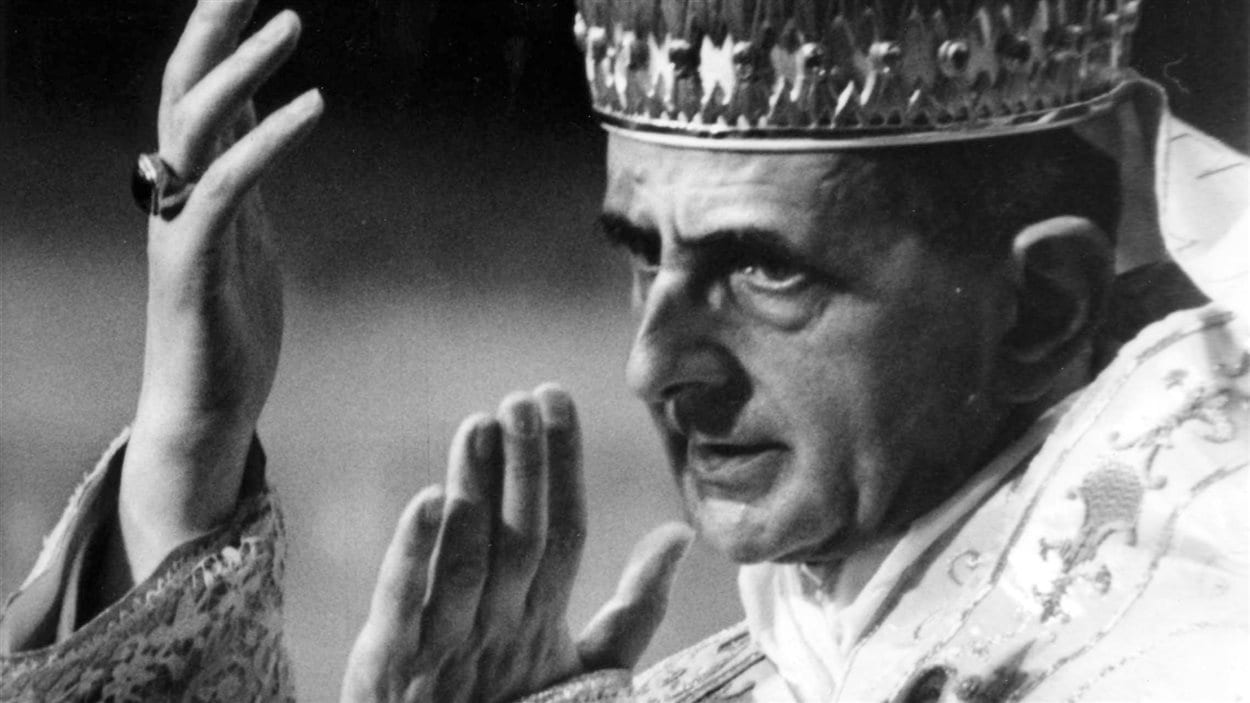 Le pape Paul VI, en 1964