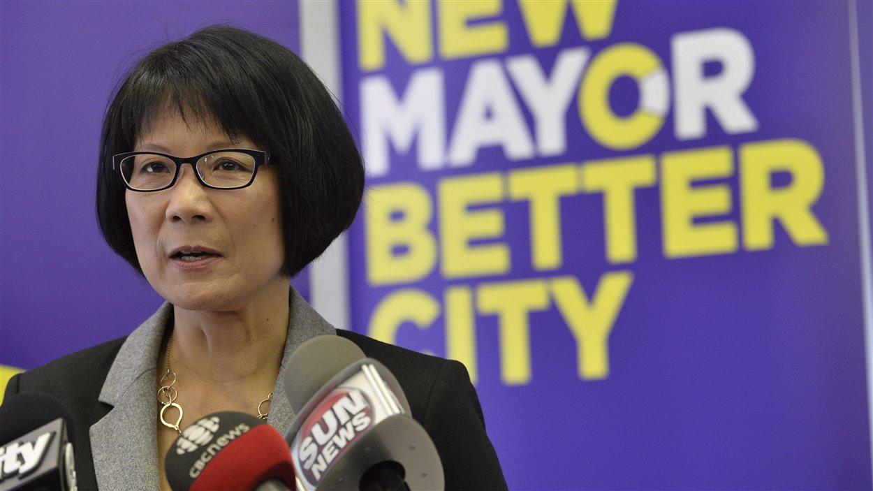 La candidate à la mairie de Toronto Olivia Chow