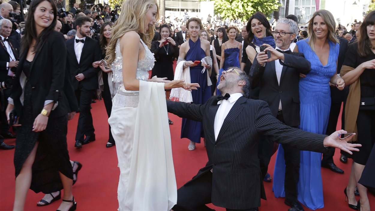 La distribution du film Mr. Turner, sur le tapis rouge à Cannes