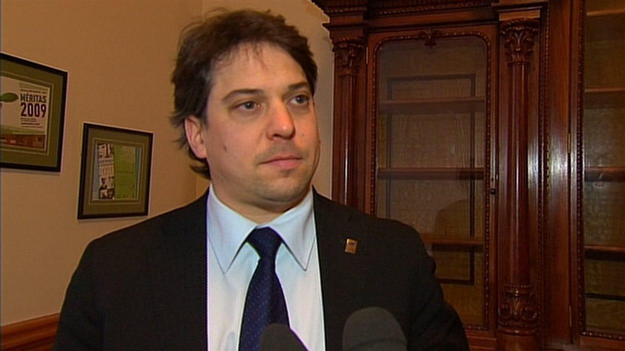 L'ancien maire de Gaspé, François Roussy
