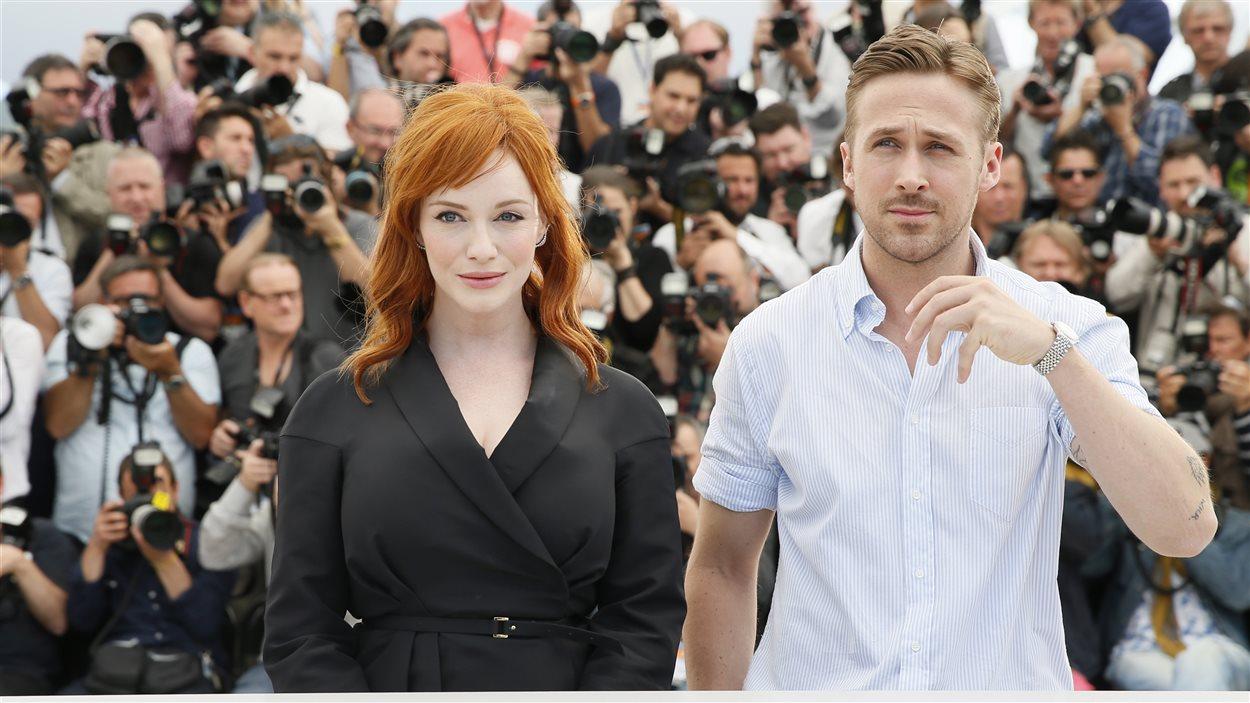 L'actrice Christina Hendricks et l'acteur et réalisateur canadien Ryan Gosling