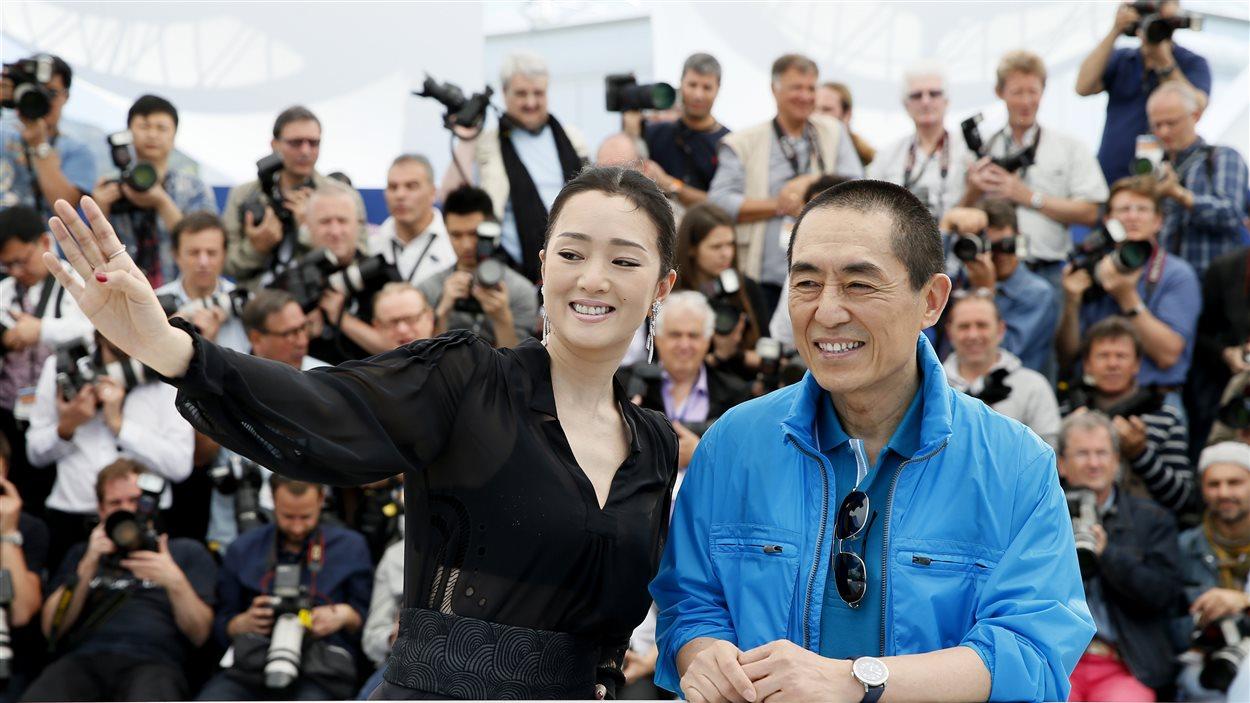 L'actrice Gong Li et le réalisateur Zhang Yimou au Festival de Cannes - 20 mai 2014