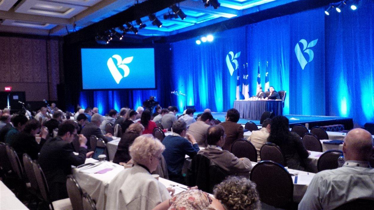 Les délégués du Bloc québécois réunis en congrès à Rimouski, le 24 mai