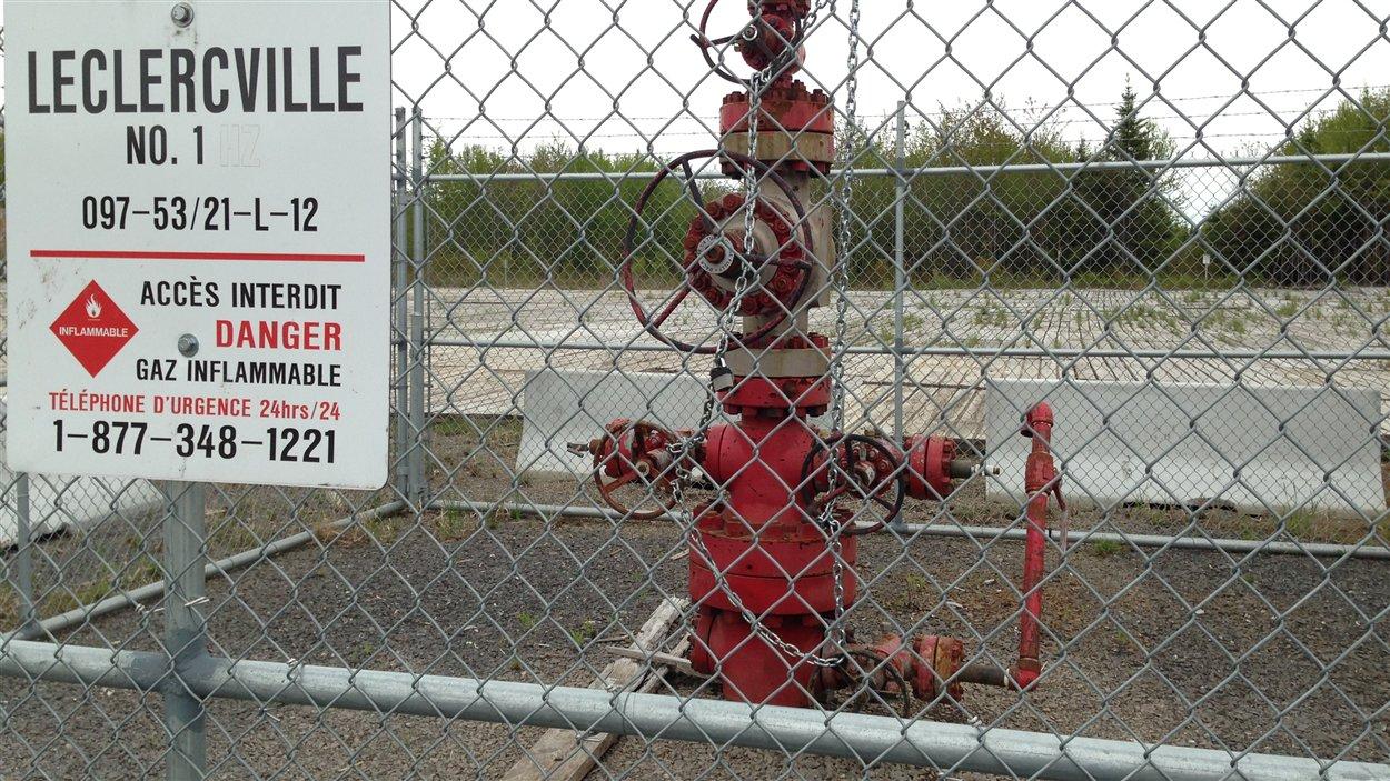 Un puit de gaz de schiste de Leclercville.