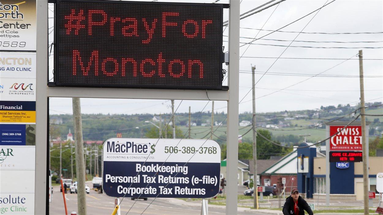 La communauté de Moncton sous le choc.