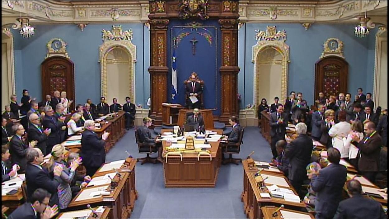 Le vote à l'assemblée nationale du Québec sur le projet de loi 52 portant sur les soins de fin de vie.