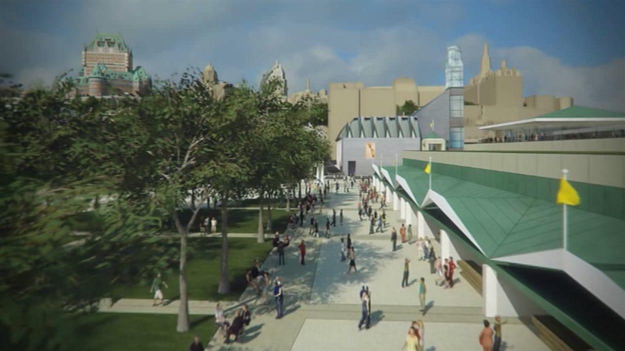 Projet d'aménagement du site Dalhousie en face du Musée de la civilisation.