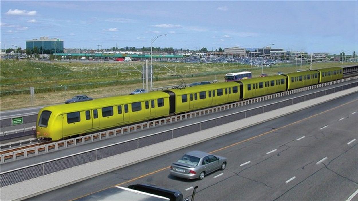 Le projet de système léger sur rail (SLR) est l'un des scénarios envisagés pour le futur pont Champlain.