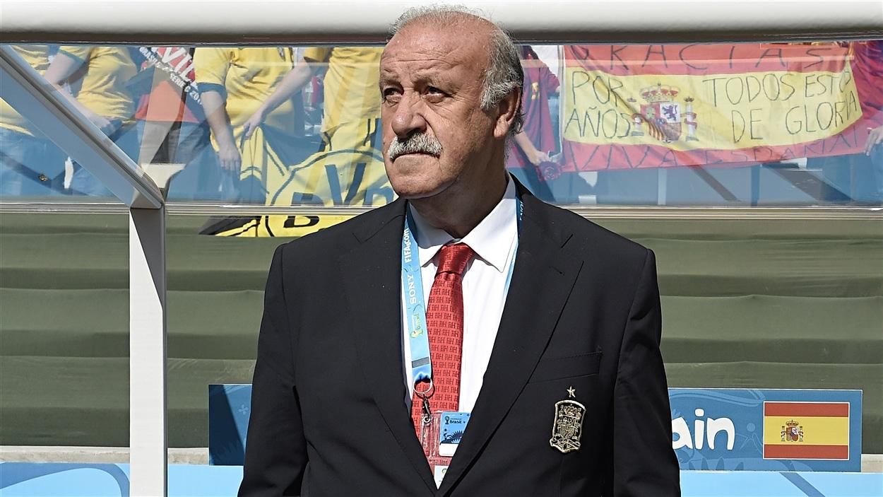 La nostalgie des grands jours se lit dans le visage du sélectionneur espagnol Vincente Del Bosque.