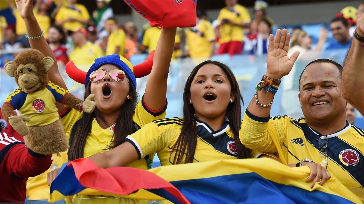 Les joueurs colombiens ont pu profiter d'un soutien important dans les gradins.