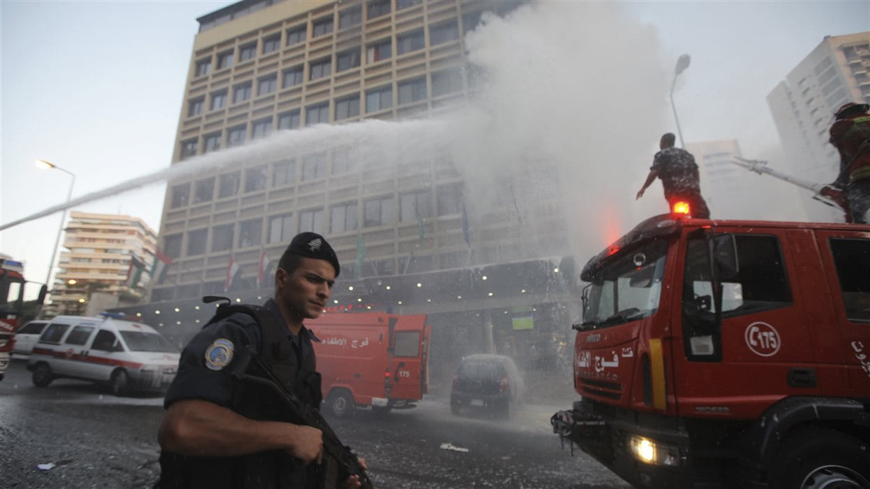 Attentat-suicide dans un hôtel de Beyrouth.