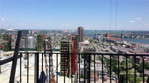 La vue depuis le 20e étage.