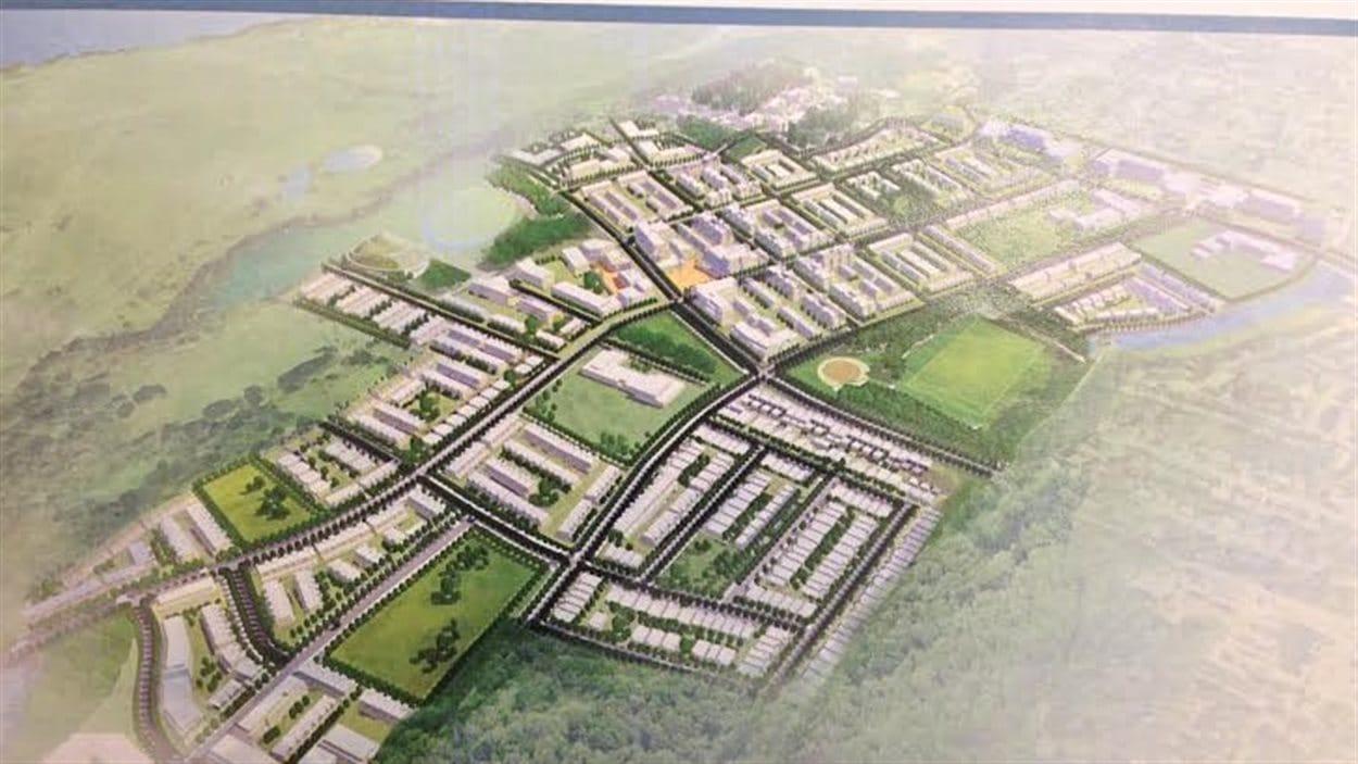 Les plans du nouveau quartier qui sera aménagé sur l'ancienne base militaire de Rockcliffe près de La Cité.