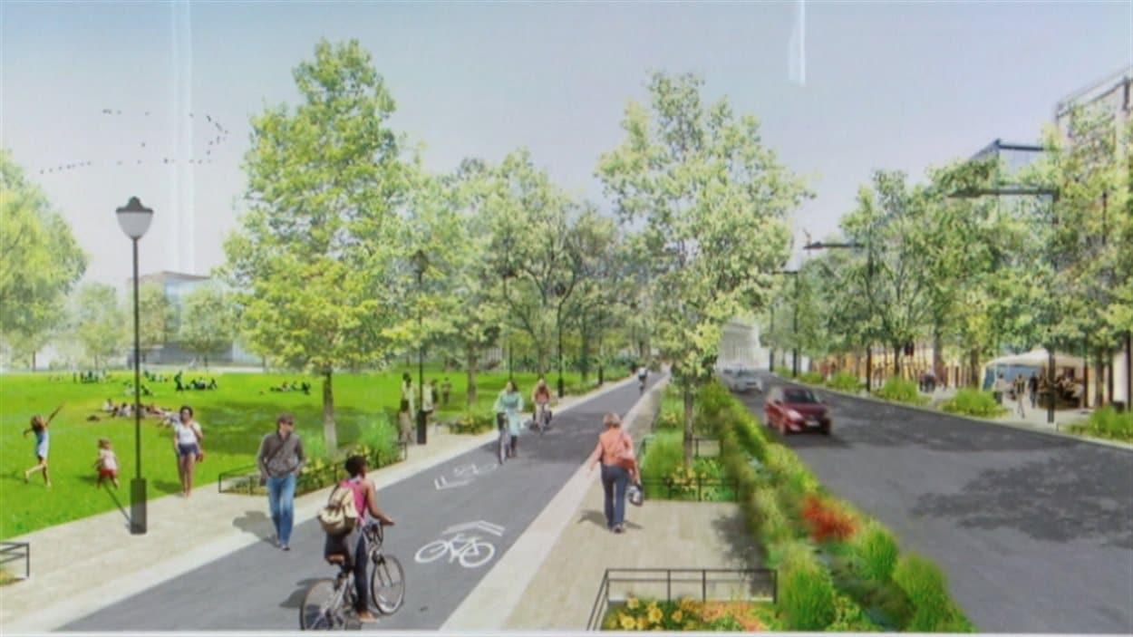 Un aperçu de ce à quoi pourrait ressembler le nouveau quartier.