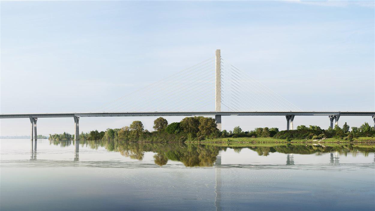 Le profil du pont Champlain.