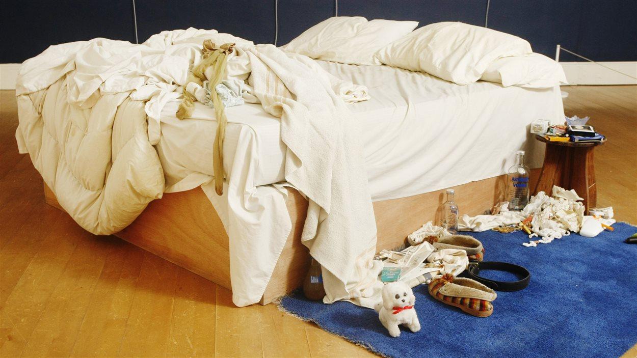 «My bed», une oeuvre de l'artiste contemporaine britannique Tracey Emin.