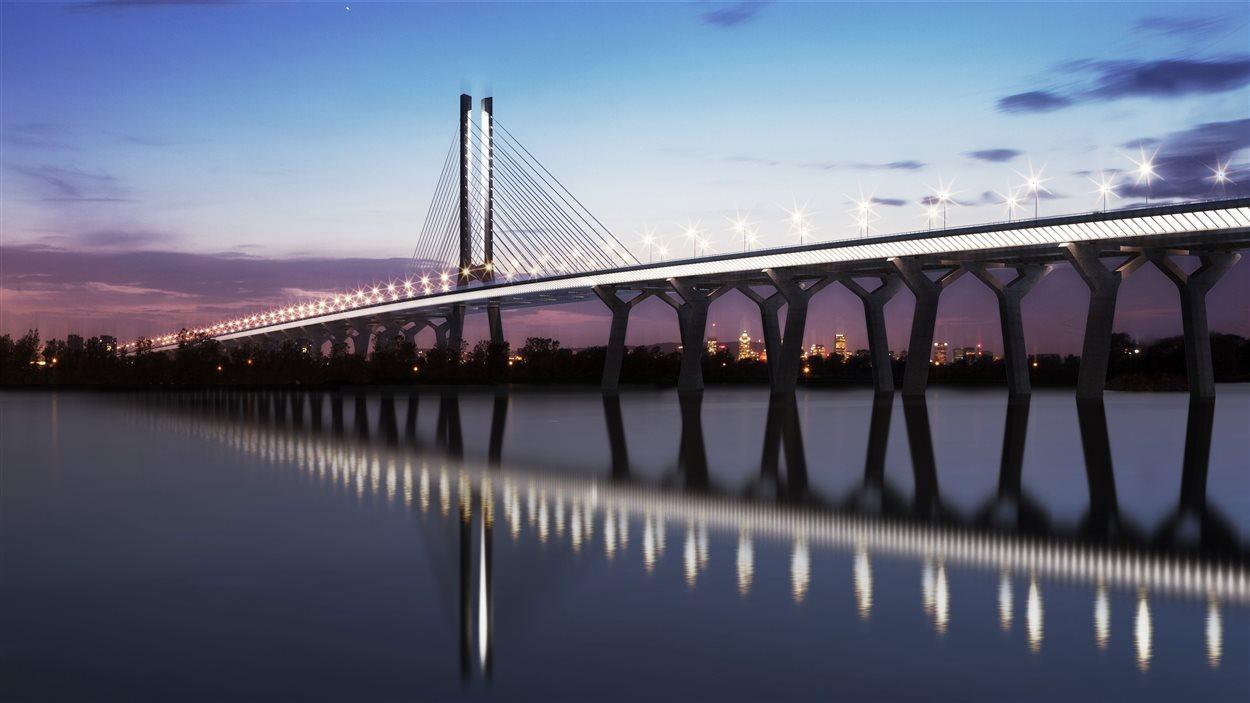 Le futur pont Champlain présenté par le gouvernement fédéral
