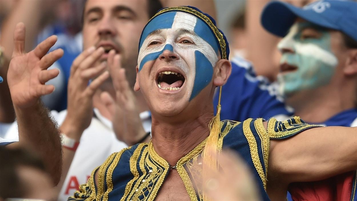 Les partisans grecs étaient fin prêts pour le match.