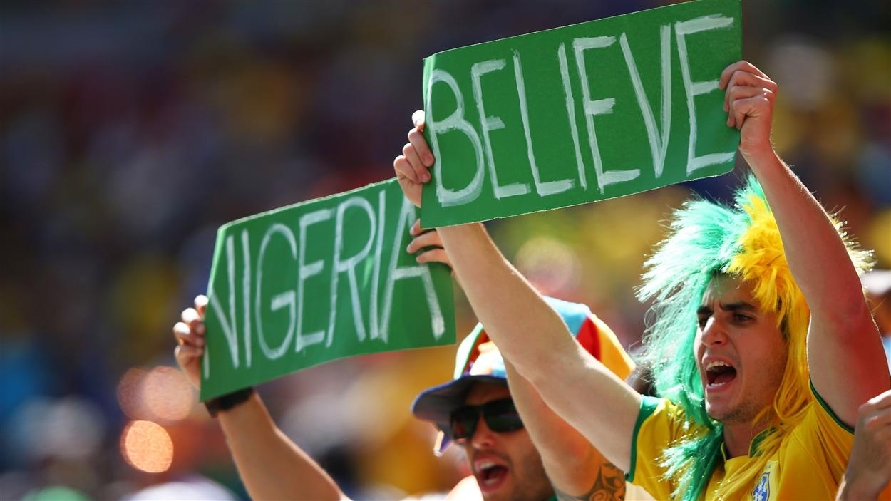 Pas de doute, les partisans nigérians ont la foi.
