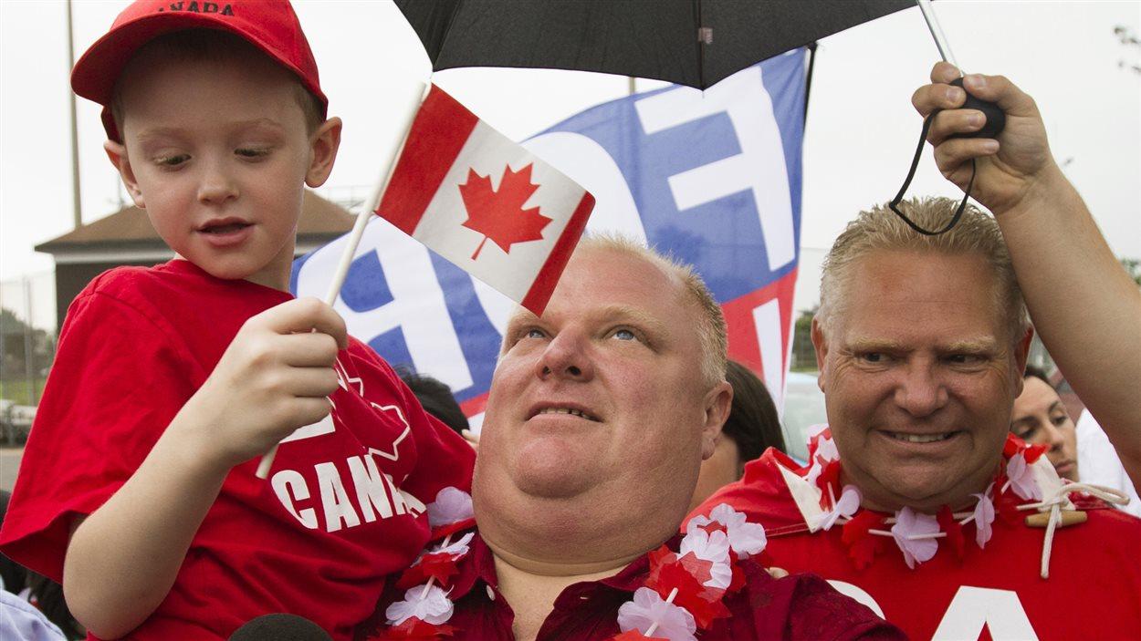 Premier bain de foule pour Rob Ford à l'occasion de la fête du Canada.