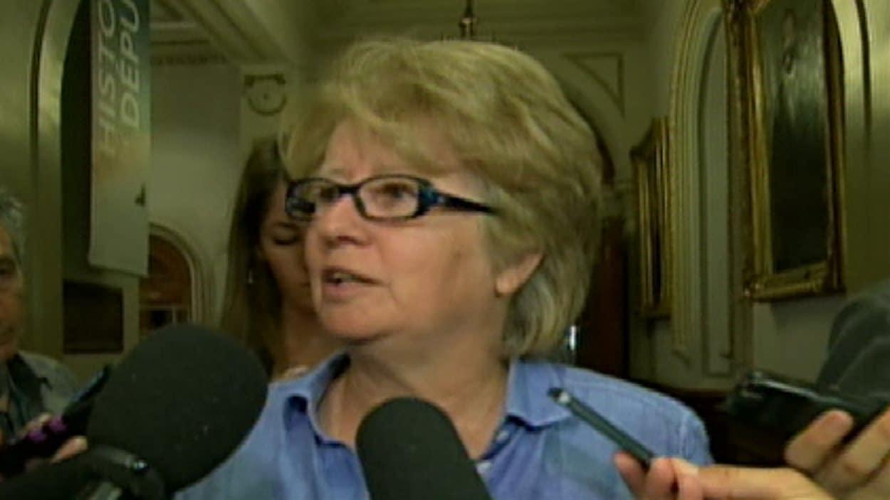 La députée péquiste de Taschereau, Agnès Maltais
