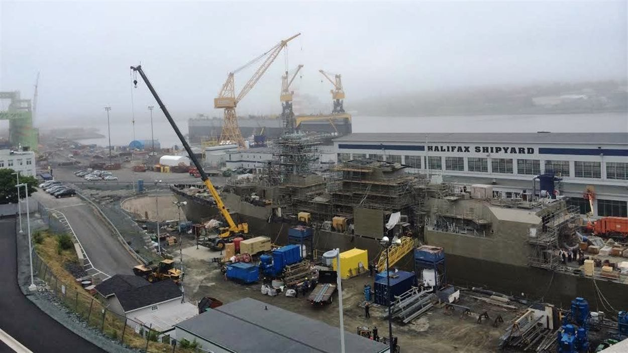 Le chantier naval Irving à Halifax
