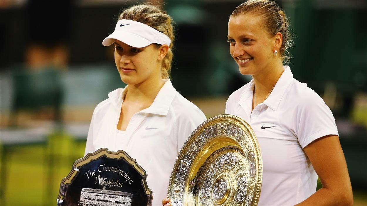 Eugenie Bouchard et la championne, Petra Kvitova