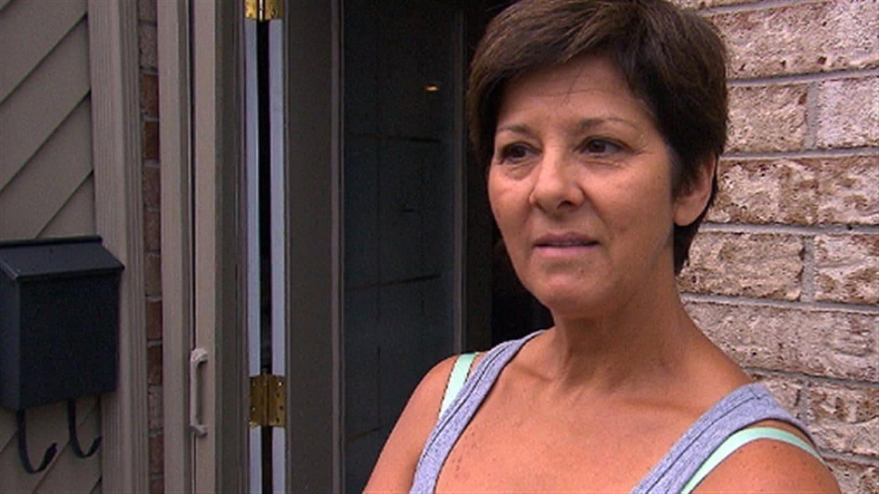 Denise Duguay, résidente du secteur où l'écrasement s'est produit, le 13 juillet 2014