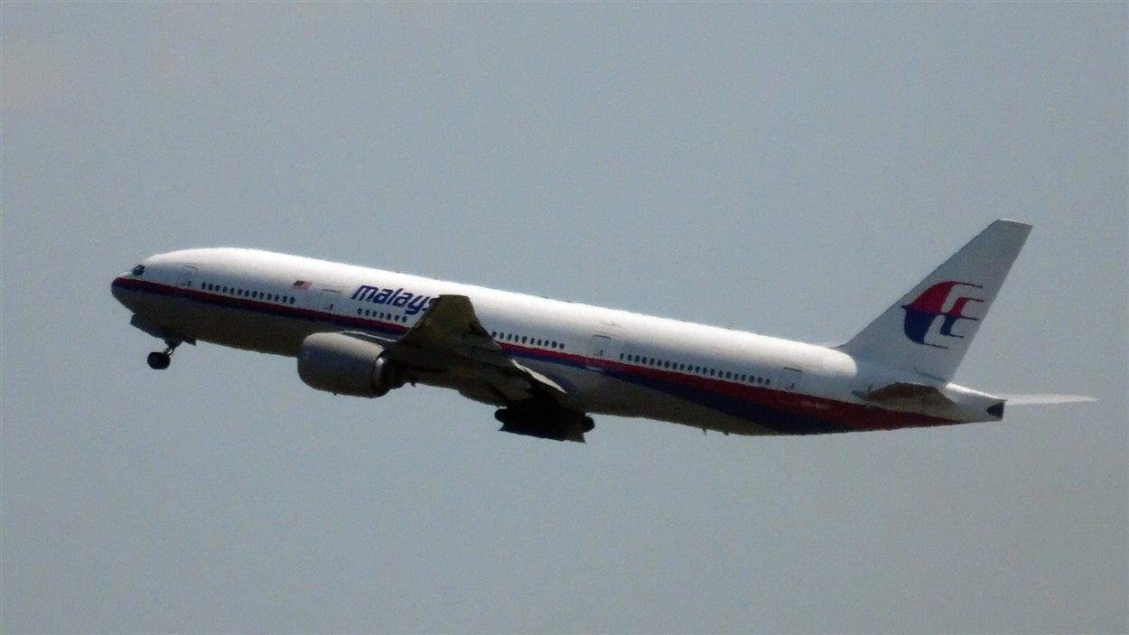 L'avion MH17 de Malaysia Airlines, quittant l'aéroport d'Amsterdam jeudi.
