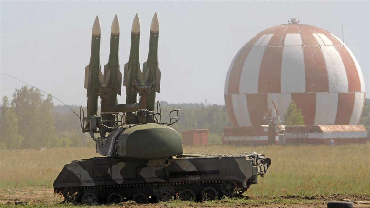 Un missile Buk M2, en Russie, en 2010.