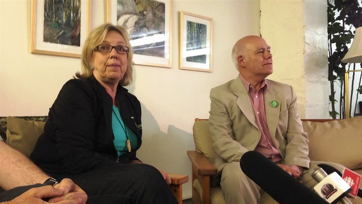 Elizabeth May et David Coon