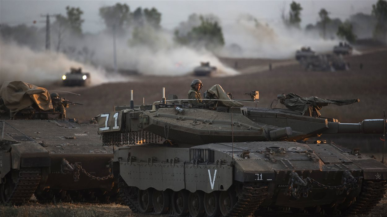Chars israéliens à Gaza