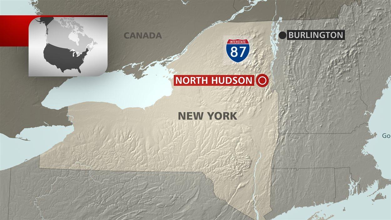 Carte géographique North Hudson