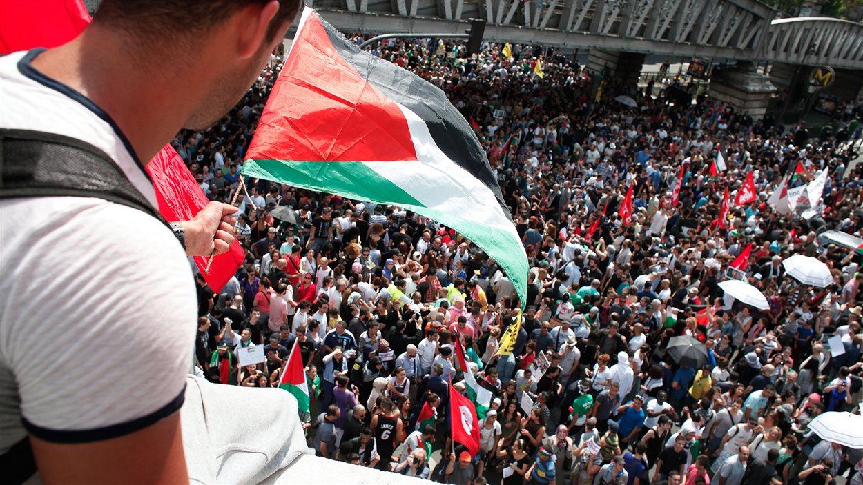 Manifestation pro-Gaza à Paris, le 19 juillet 2014