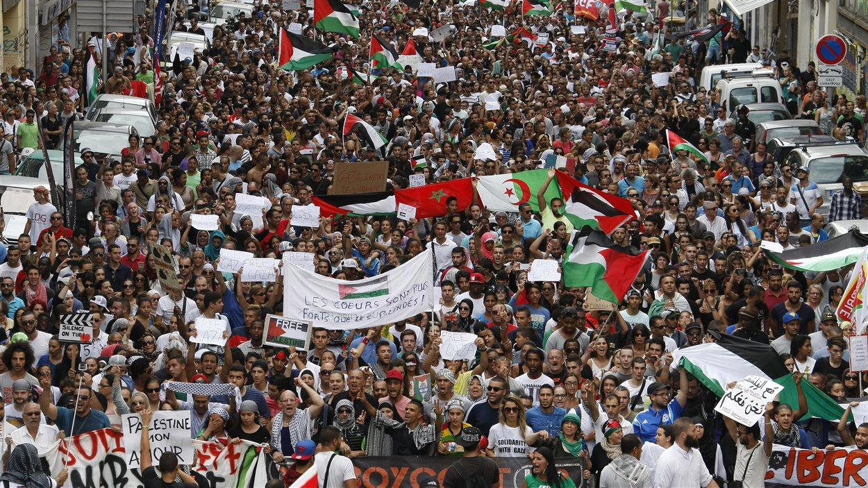 Manifestation pro-Gaza à Marseille, le 19 juillet 2014