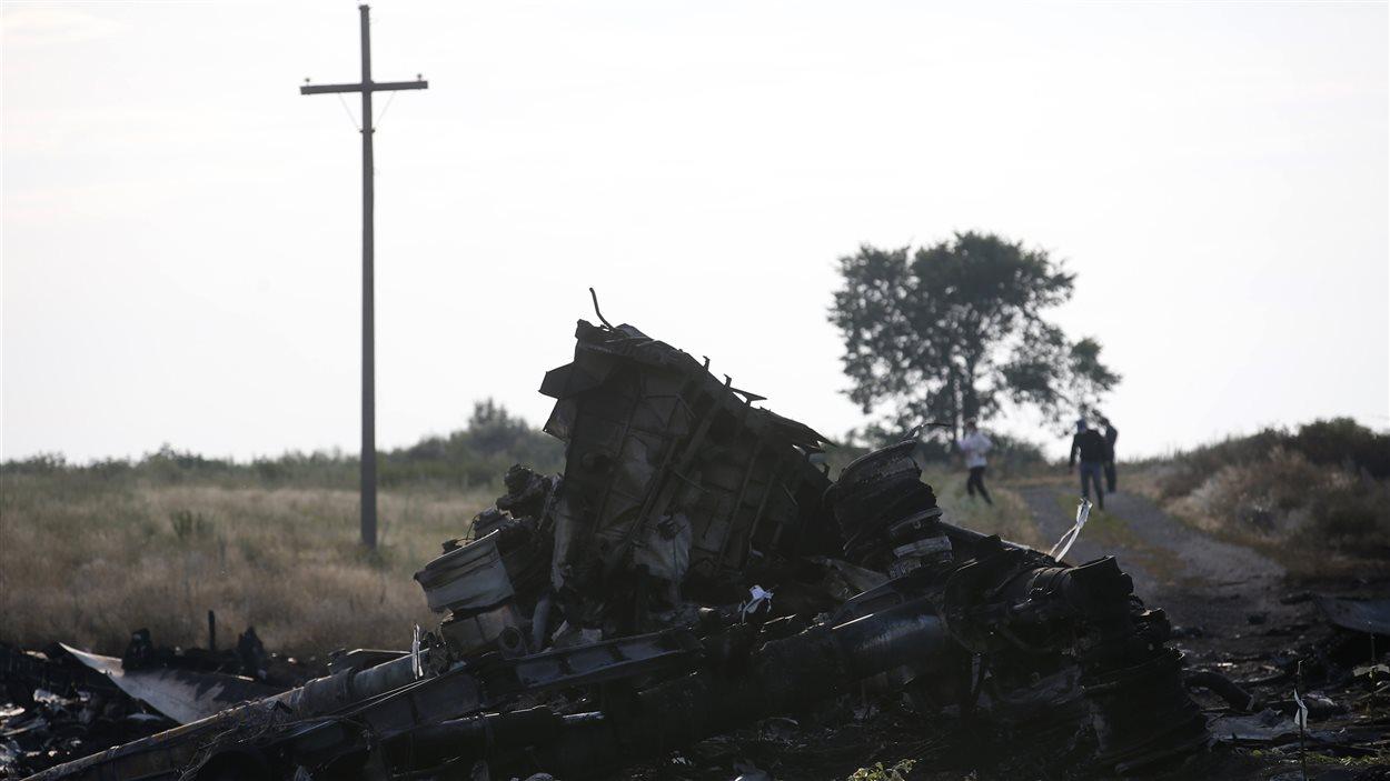 Site de l'écrasement du vol MH17, en Ukraine