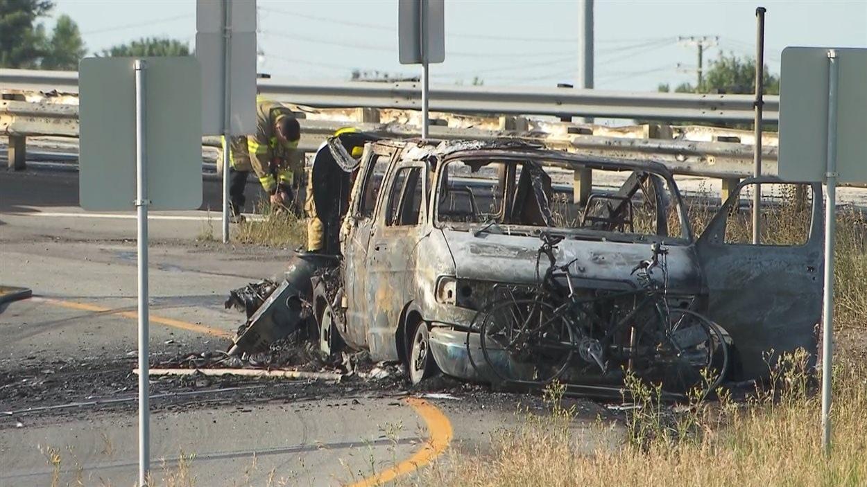 Une fourgonnette a été impliquée dans l'explosion d'un camion-citerne sur l'autoroute 640.