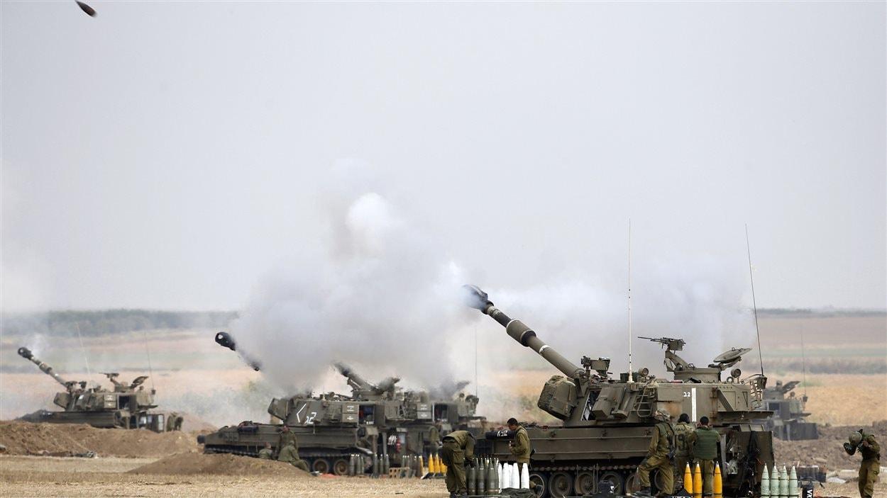 Offensive de l'armée israélienne dans la bande de Gaza, le dimanche 20 juillet 2014.