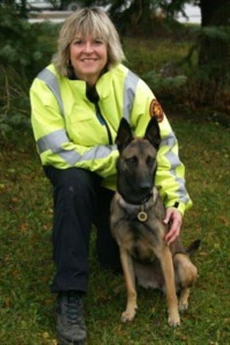 Susan Read et son chien Breezy