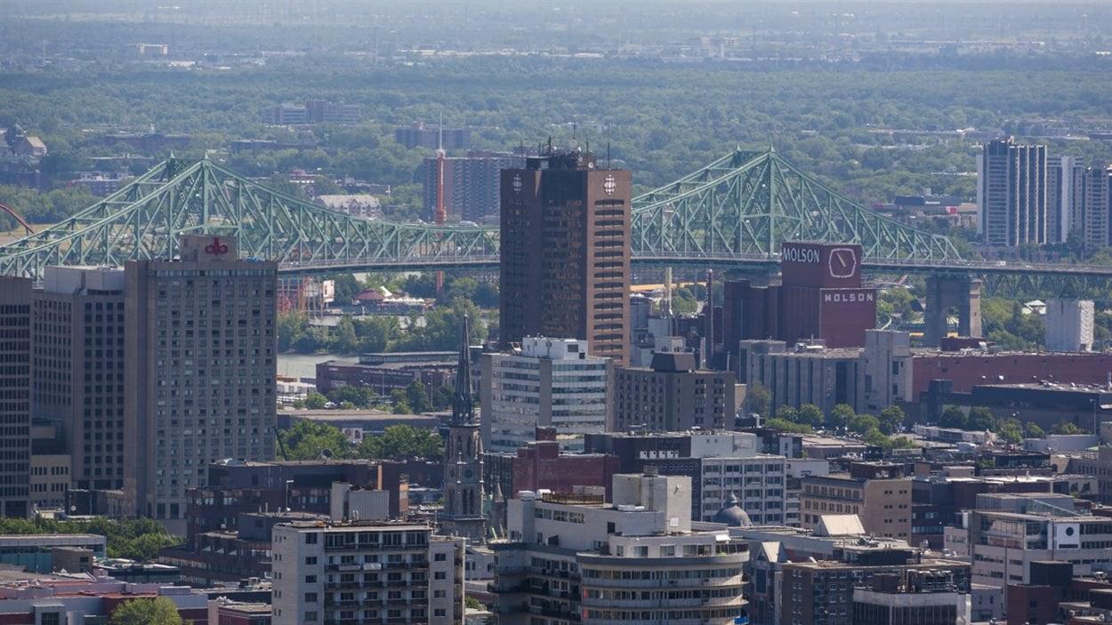 Pont Jaques Cartier, tour Radio-Canada, Montréal