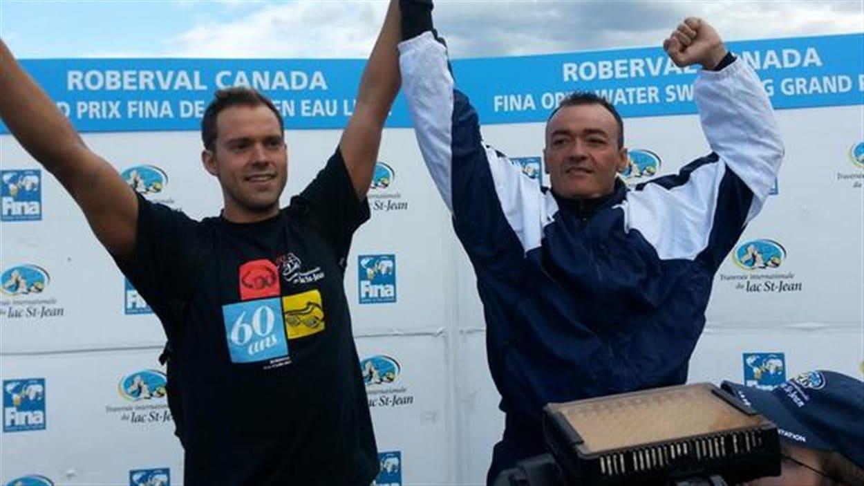 Les deux gagnants de la Traversée: Xavier Desharnais et Tomi Stefanovski