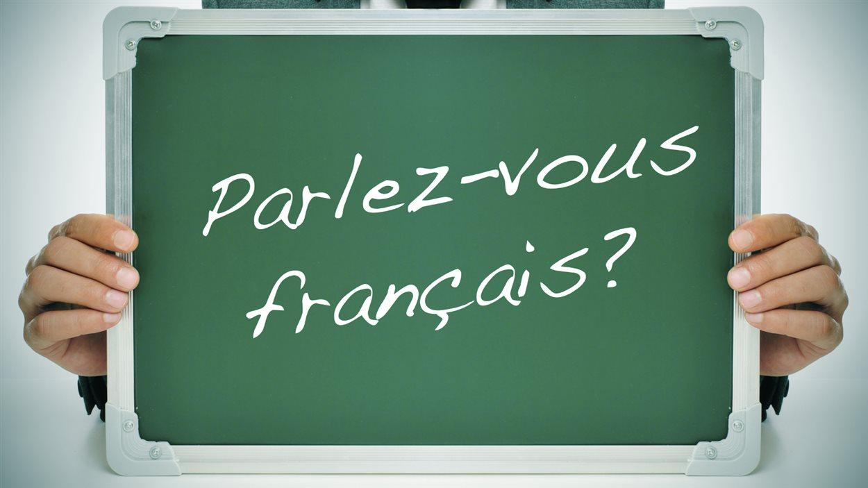 Tableau avec l'inscription Parlez-vous français?