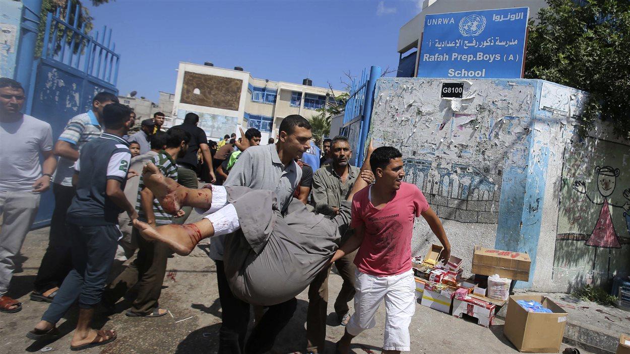 Frappe sur une école de l'ONU dans la bande de Gaza
