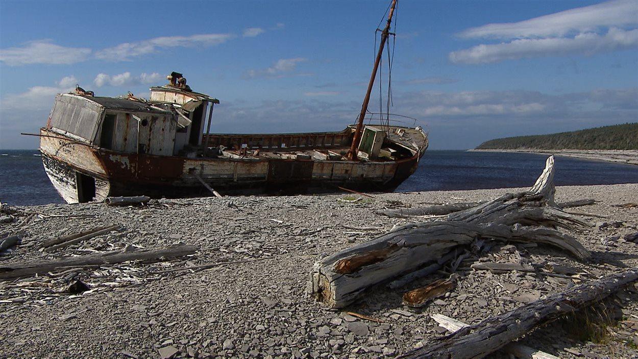 Épave sur l'île d'Anticosti
