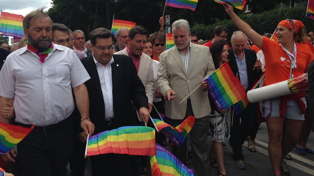 Plusieurs politiciens ont pris part au défilé de la Fierté