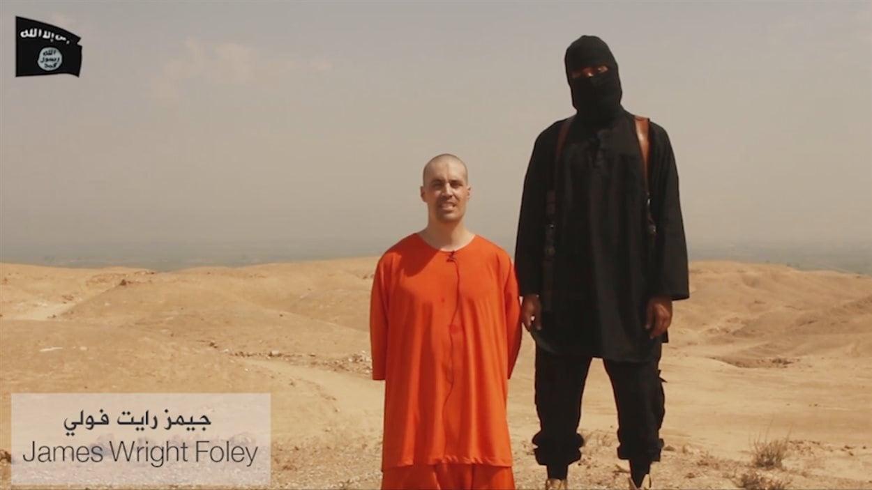 Image tirée d'une vidéo mise en ligne par des djihadistes de l'EI.