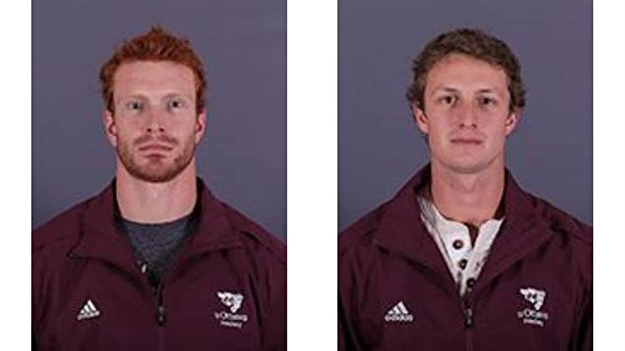 Photos officielle de David Foucher (à gauche) et Guillaume Donovan