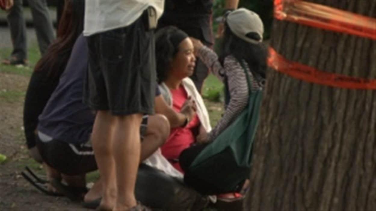 La famille de Michael Lumahang était dévastée par la nouvelle.