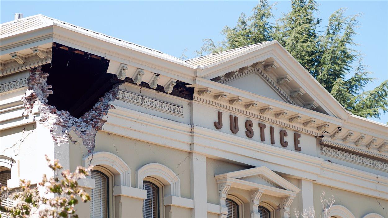 Le palais de justice de Napa a subi des dommages